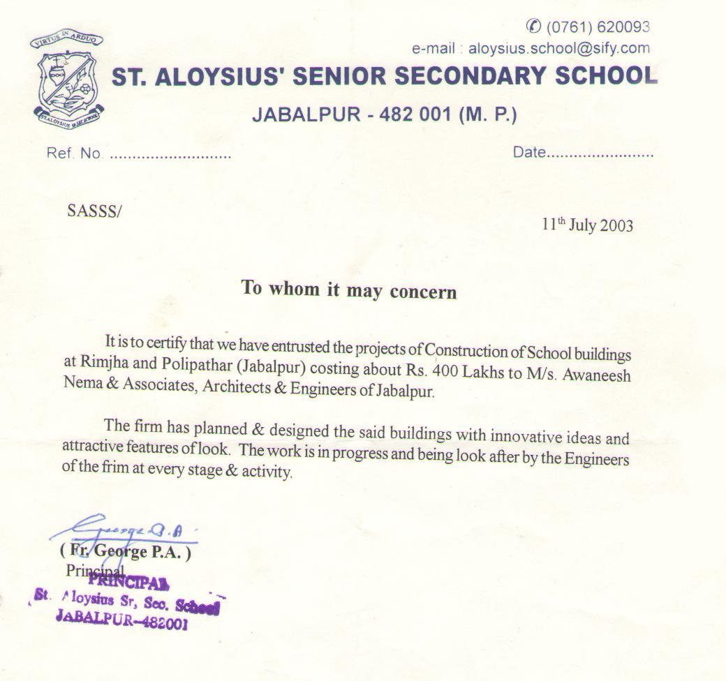 ST. Aloysius Senior Secondary School