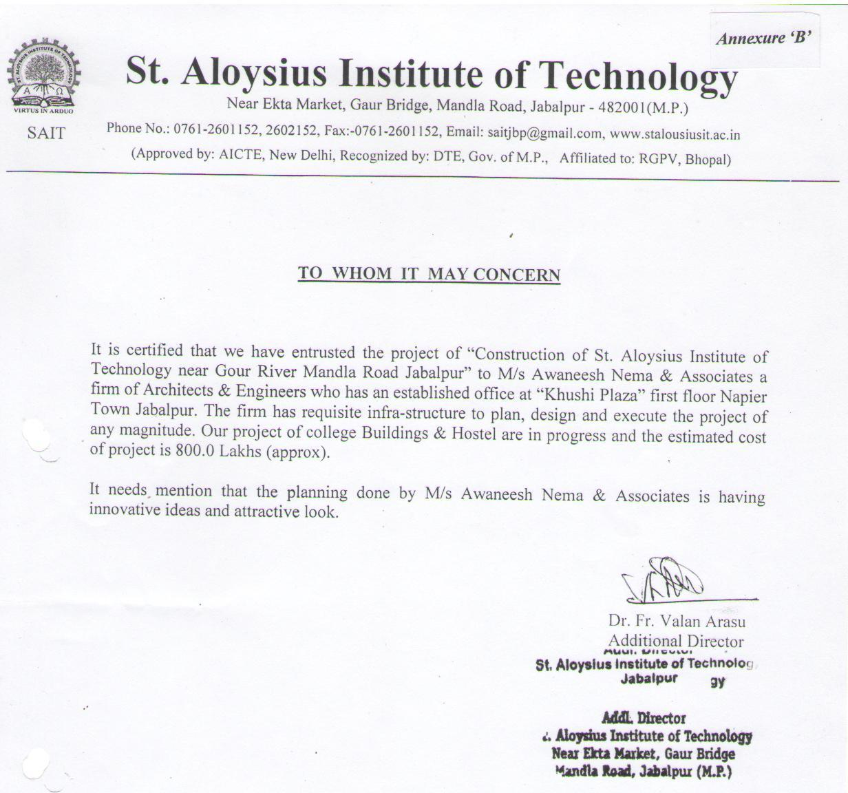 ST. Aloysius Institute of Technology